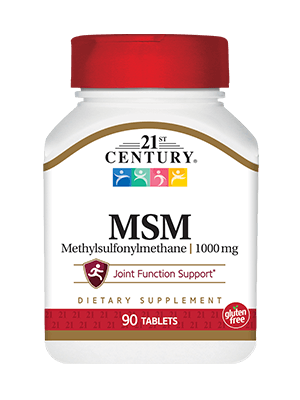 21st Century MSM 1,000 mg 90 Tablets