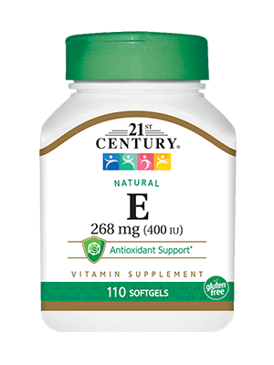 21st Century Natural Vitamin E 268 mg (400 IU) 110 Softgels