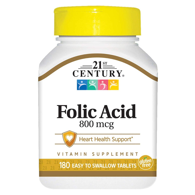 21st Century Folic Acid 800 mcg 180 Tablets