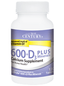 21st Century Calcium 600+D3 Plus Minerals 120 Tablets