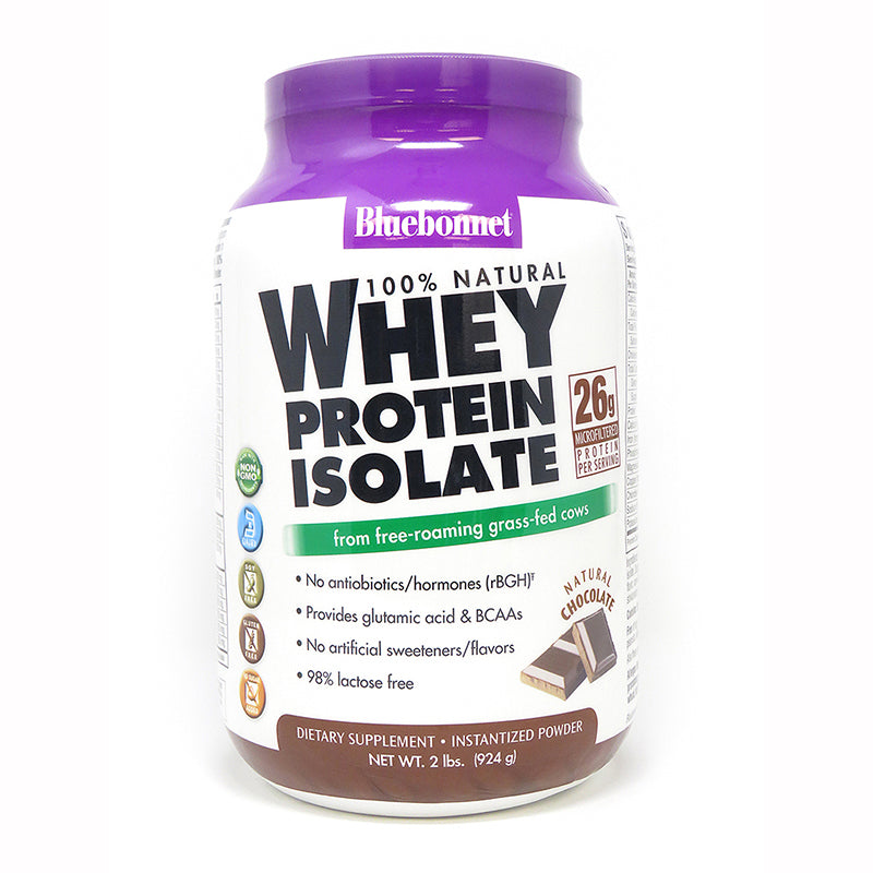 Bluebonnet Nutrition Whey Protein Isolate Powder Chocolate 2 lb