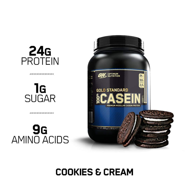Optimum Nutrition Gold Standard 100% Casein Cookies and Cream 2 lb