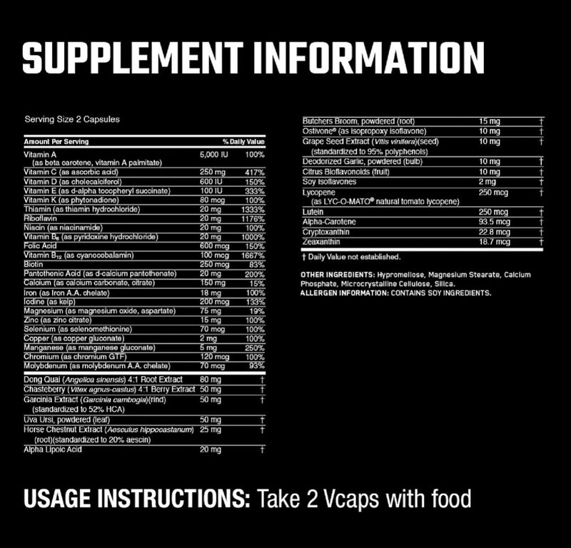 Optimum Nutrition Opti-Women Multivitamin 120 Capsules