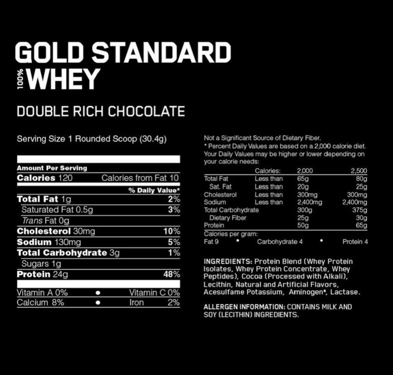 Optimum Nutrition 100% Whey Double Rich Chocolate 5 lb
