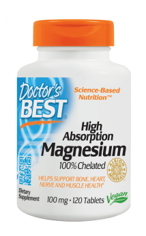 Doctor's Best High Absorption Magnesium 100 mg 120 Tablets