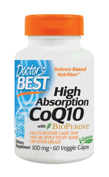 Doctor's Best High Absorption CoQ10 with BioPerine 100 mg 60 Veg Capsules