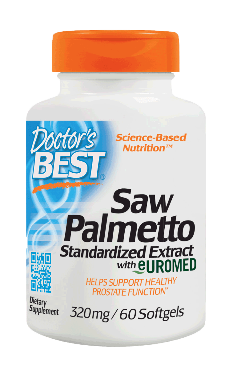 Doctor's BEST Best Saw Palmetto Standardized Extract 320 mg 60 Softgels