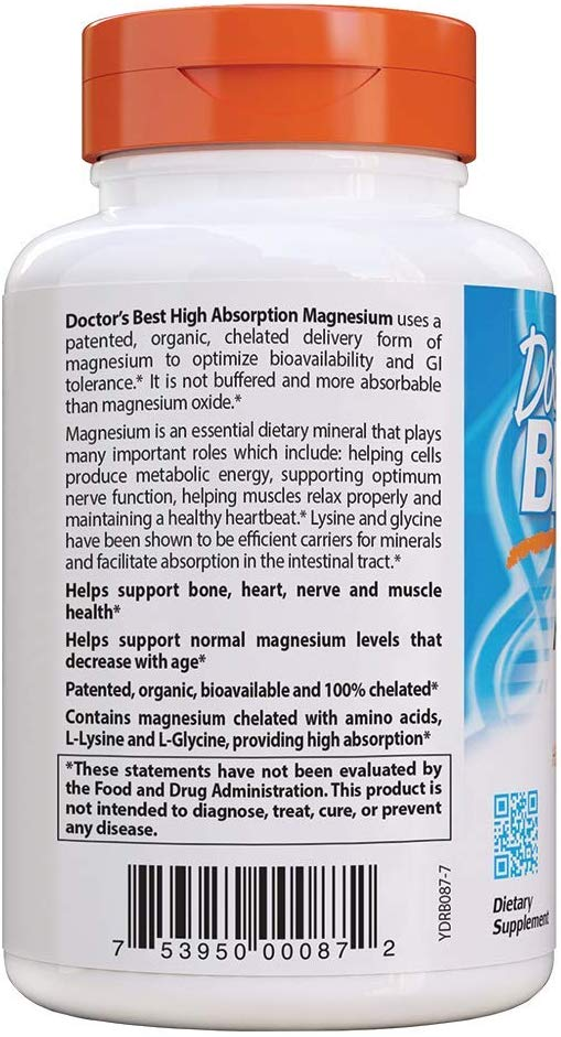 Doctor's BEST High Absorption Magnesium 240 Tablets