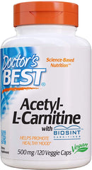 Doctor's BEST Acetyl-L-Carnitine 500 mg 120 Veg Capsules