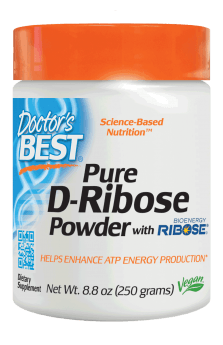 Doctor's Best Pure D-Ribose with BioEnergy Ribose Powder 8.8 oz