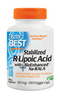 Doctor's Best Stabilized R-Lipoic Acid 100 mg 180 Veg Capsules