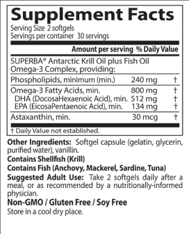 Doctor's Best Enhanced Krill Plus Omega 3s 60 Softgels