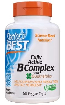 Doctor's BEST Fully Active B Complex with Quatrefolic 60 Veg Capsules