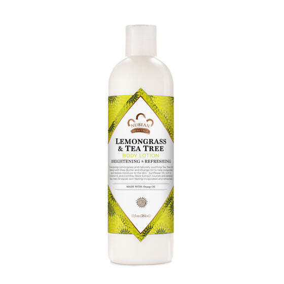 Nubian Heritage Body Lotion Lemongrass & Tea Tree 13 fl oz