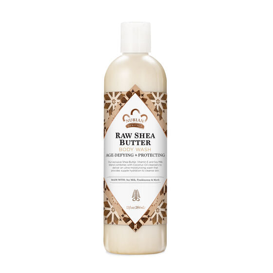 Nubian Heritage Body Wash Raw Shea Butter 13 fl oz