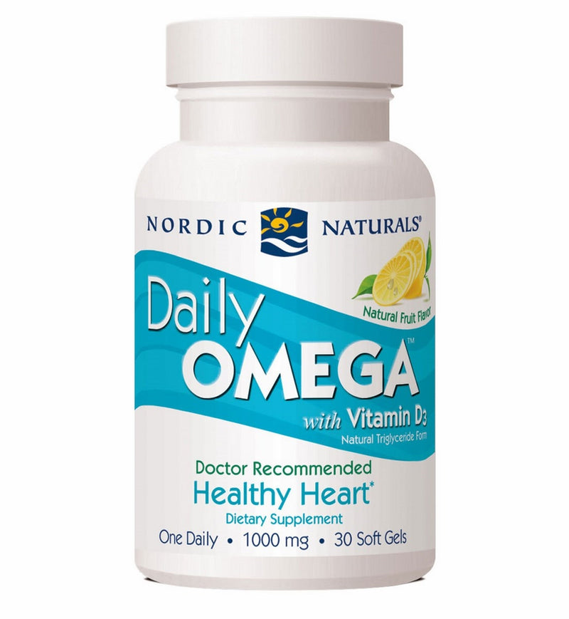 Nordic Naturals Daily Omega with Vitamin D3 30 Softgels