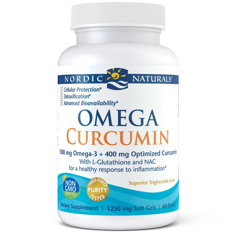Nordic Naturals Omega Curcumin Dietary Supplement 1,000 mg 60 Softgels