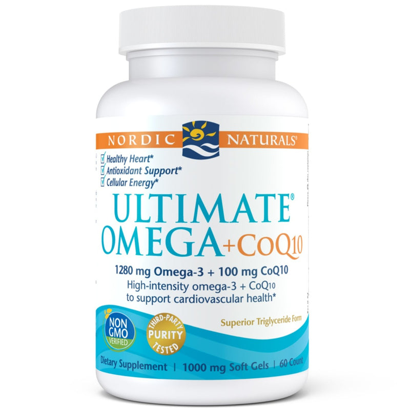 Nordic Naturals Ultimate Omega + CoQ10 60 Softgels