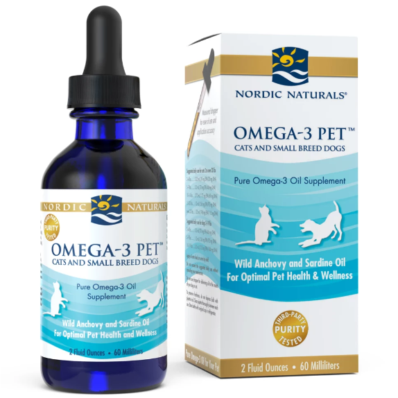 Nordic Naturals Omega-3 Pet Cats and Small Breed Dogs 2 fl oz