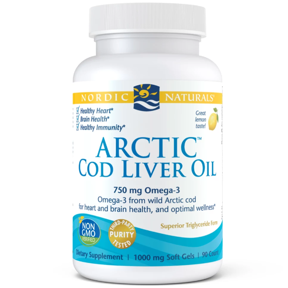 Nordic Naturals Arctic Cod Liver Oil 750 mg 90 Softgels