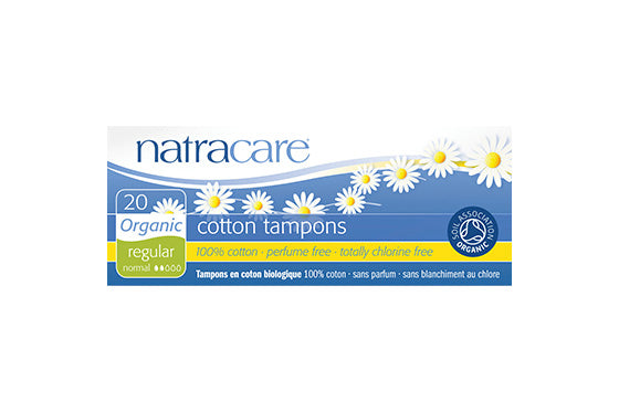 NatraCare Organic Cotton Tampons Regular 20 Tampons