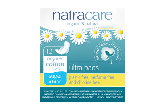 NatraCare Ultra Pads Super with wings 12 Pads