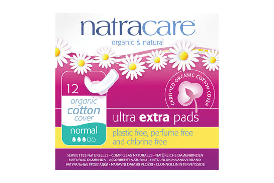 NatraCare Ultra Extra Pads Normal with Wings 12 Pads