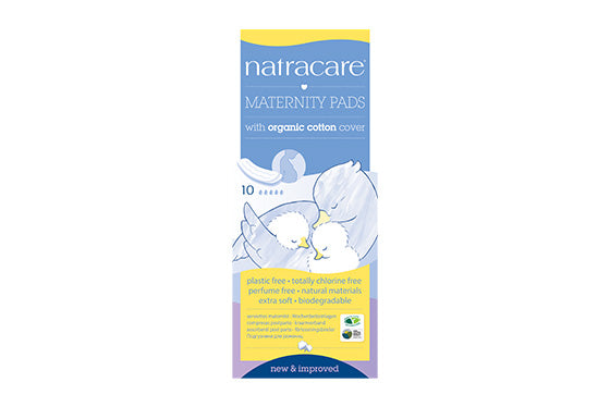 NatraCare Maternity Pads with Organic Cotton Cover 10 Pads