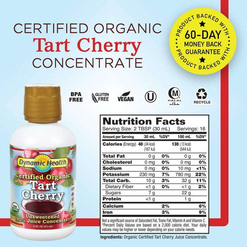 Dynamic Health Certified Organic Tart Cherry 16 fl oz