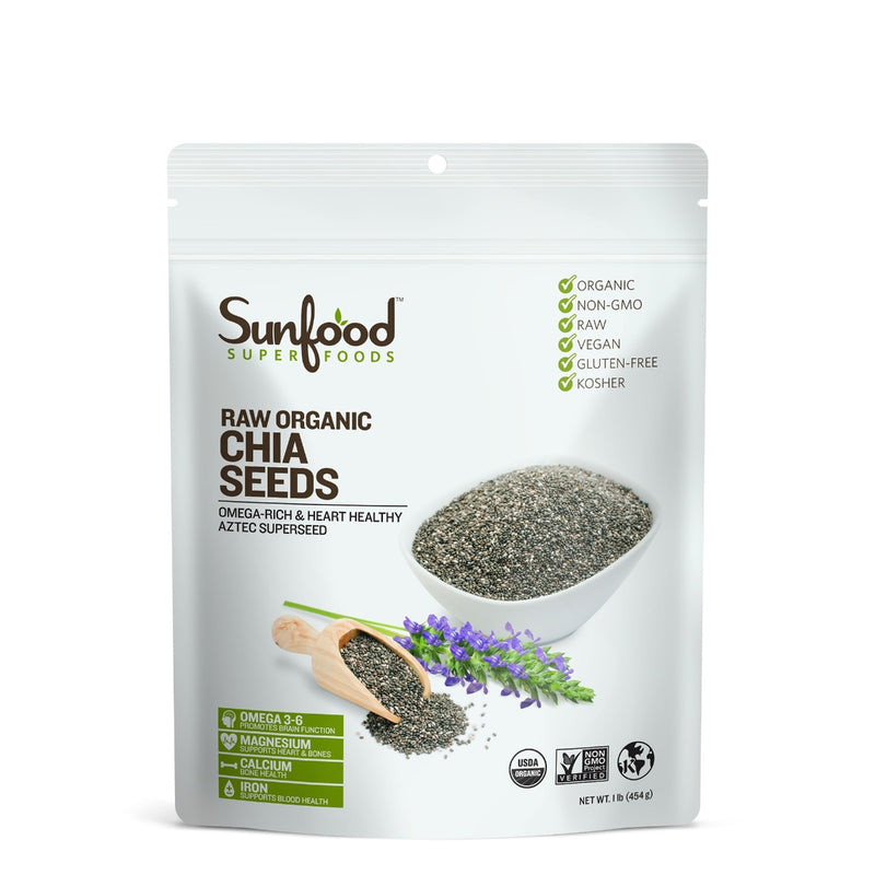 Sunfood Raw Organic Chia Seeds 1 lb