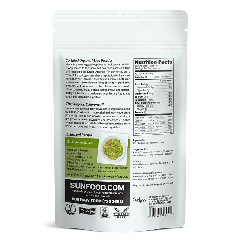 Sunfood Raw Maca Powder 1 lb