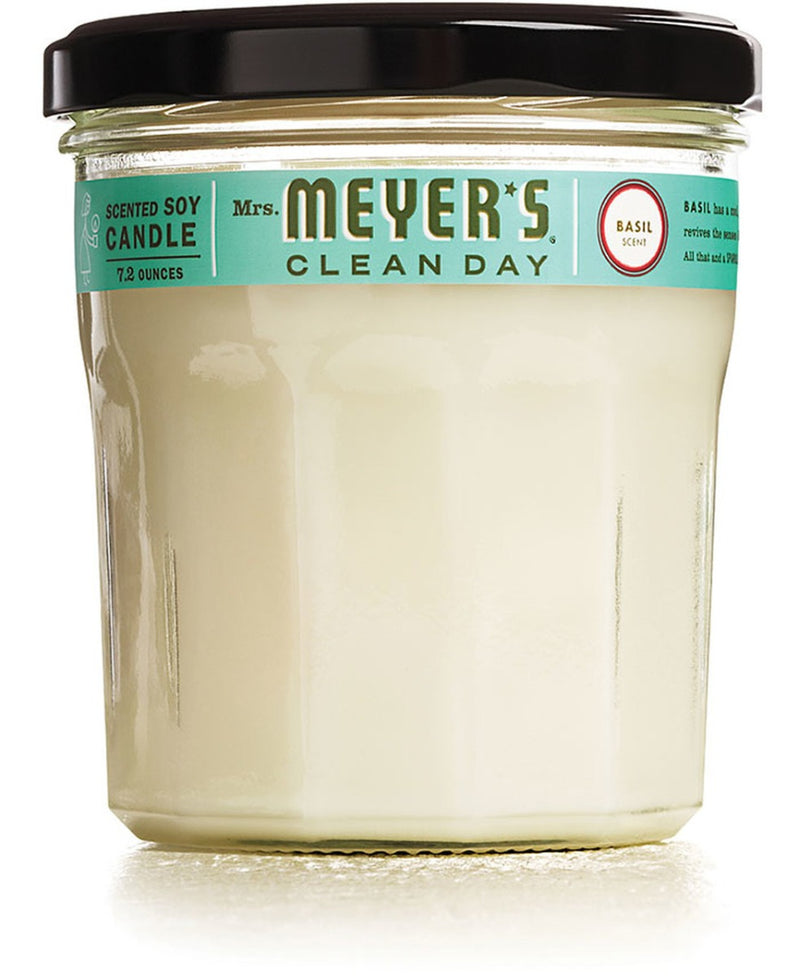 Mrs. Meyer's Soy Candle Basil 7.2 oz