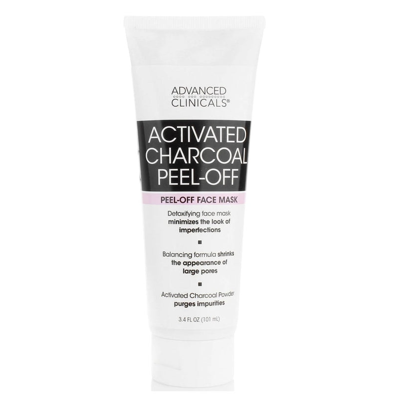 Advanced Clinicals Activated Charcoal Peel-Off Face Mask 3.4 fl oz