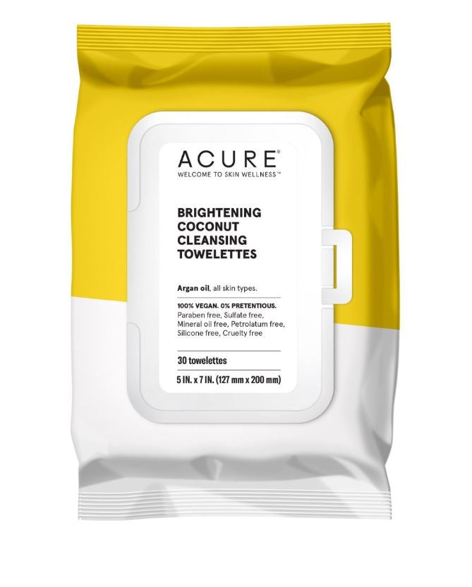 Acure Coconut Cleansing Towelettes 30 Towelettes