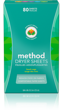 Method Dryer Sheets Beach Sage 80 Sheets