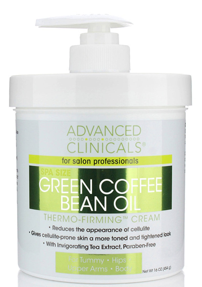 Advanced Clinicals Green Coffee Bean Oil Thermo-Firming Cream 16 oz