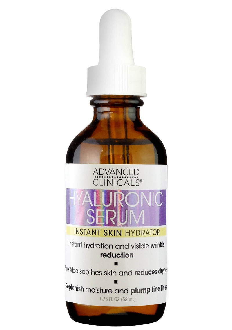 Advanced Clinicals Hyaluronic Serum Instant Skin Hydrator 1.75 fl oz