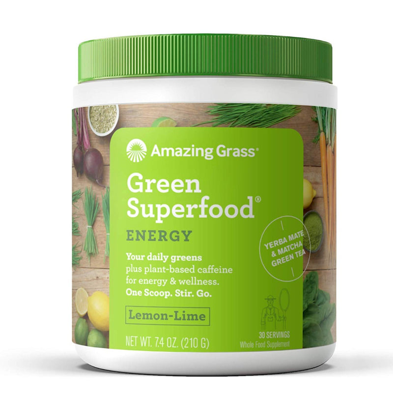 Amazing Grass Green SuperFood Energy Lemon Lime Drink Powder 7.4 oz