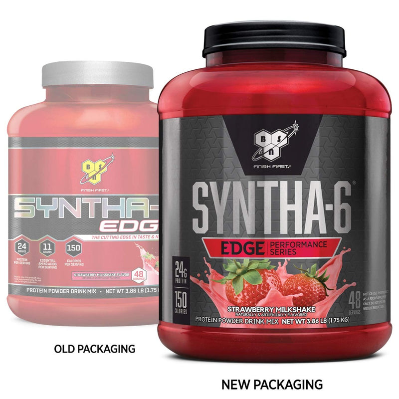 BSN Syntha-6 Edge Protein Powder Drink Mix Strawberry Milkshake 48 Servings 3.86 lb