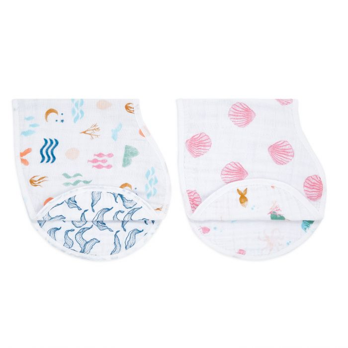 Aden and Anais Salty Kisses Classic Burpy Bibs 2 Set