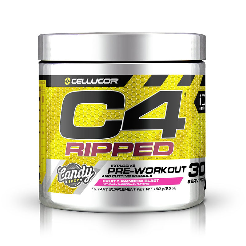 Cellucor C4 Ripped Explosive Pre-Workout Fruity Rainbow Blast 30 Servings 6.3 oz