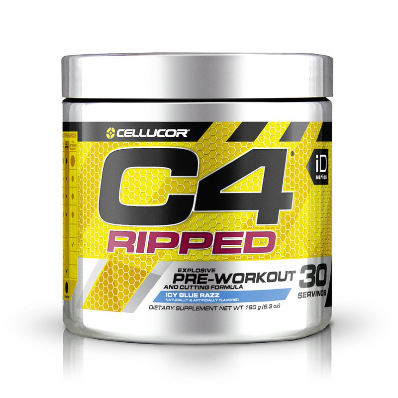 Cellucor C4 Ripped Explosive Pre-Workout Icy Blue Razz 30 Servings 6.3 oz