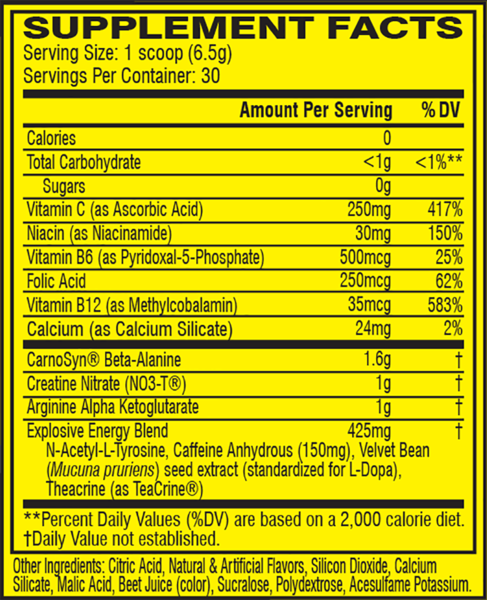 Cellucor C4 Original Explosive Pre-Workout Pink Lemonade 30 Servings 6.9 oz