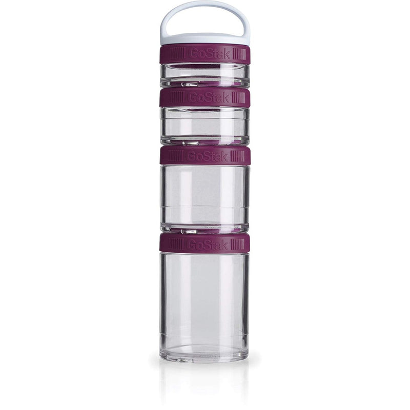 Blender Bottle GoStak Portable Stackable Containers Plum 4 Pack