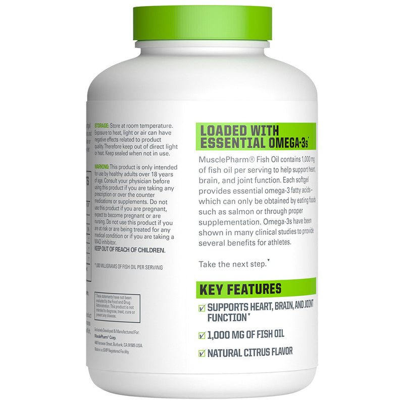Musclepharm Fish Oil 180 Serving 180 Softgels