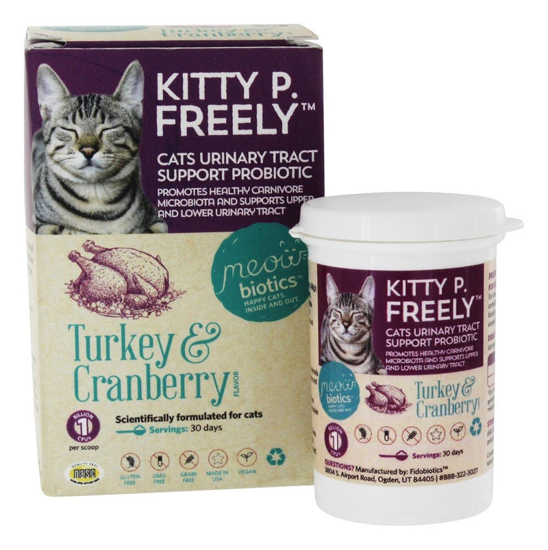 Fidobiotics Meowbiotics KITTY P. FREELY Cats Urinary Tract Support Probiotic 1.5 oz