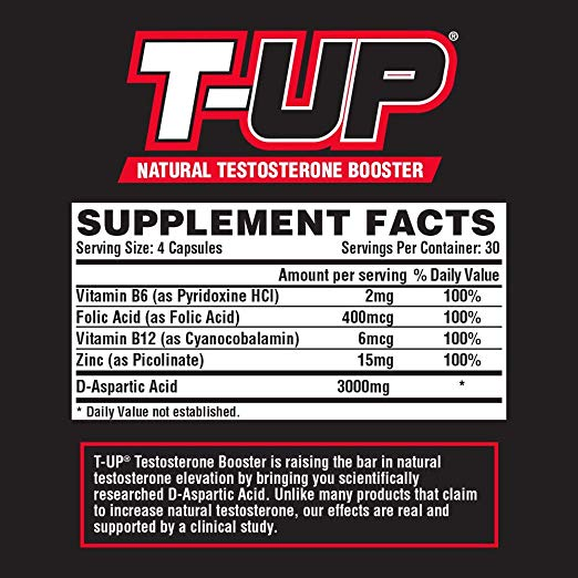 Nutrex Research T-UP Clinically Dosed 120 Capsules