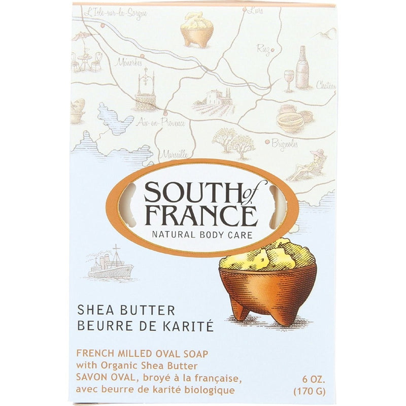 South of France French Milled Oval Soap Shea Butter 6 oz