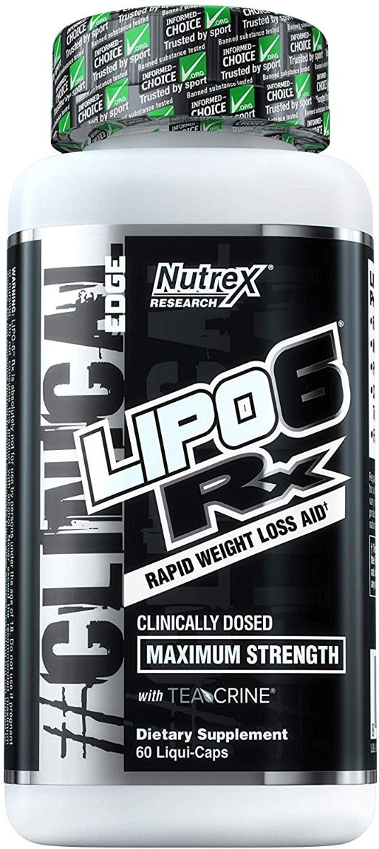 Nutrex Research Lipo 6 Rx, Weight Loss Support 60 Liquid Capsules