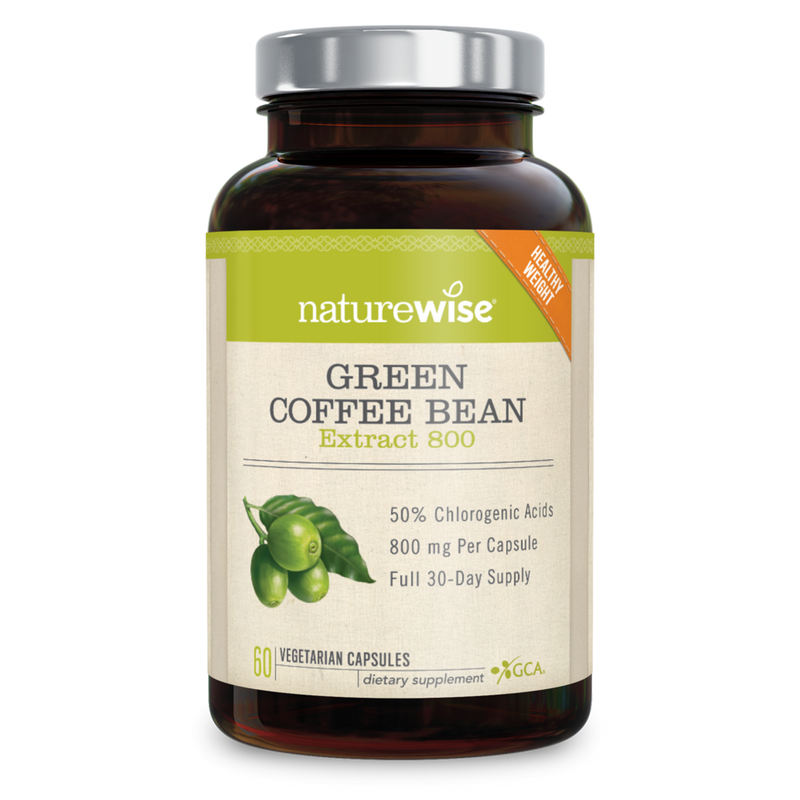 Naturewise Green Coffee Bean Extract 800 mg 60 Veg Capsules